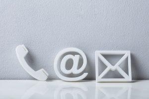 Kontakt Header Anrufen Telefon Mail Briefumschlag